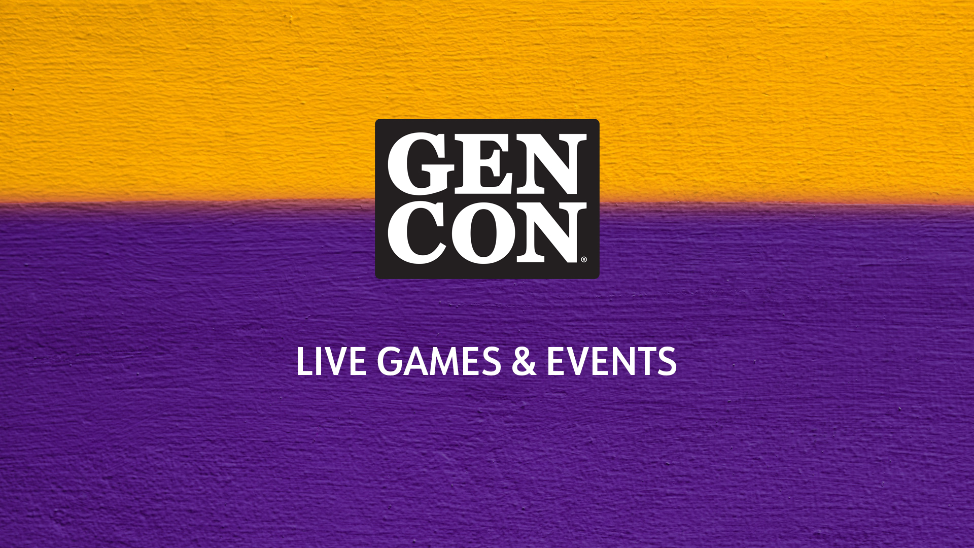 Gen Con Live Games & Events