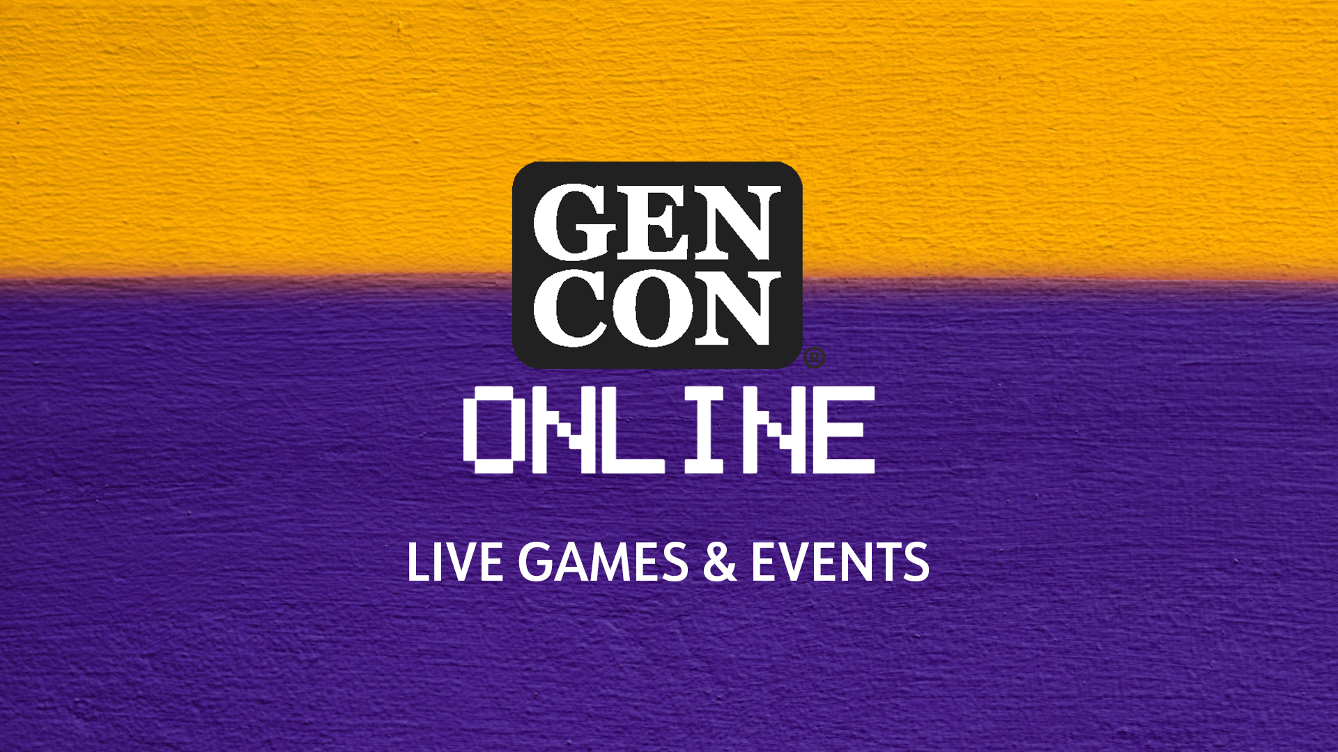 Gen Con 2020 Live Games and Events
